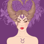 Taurus astrological sign as a beautiful girl