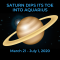 Saturn Dips its Toe into Aquarius